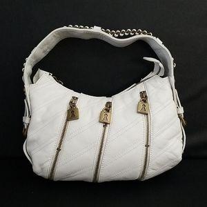 Betsey Johnson VINTAGE HOBO WHITE LEATHER BAG